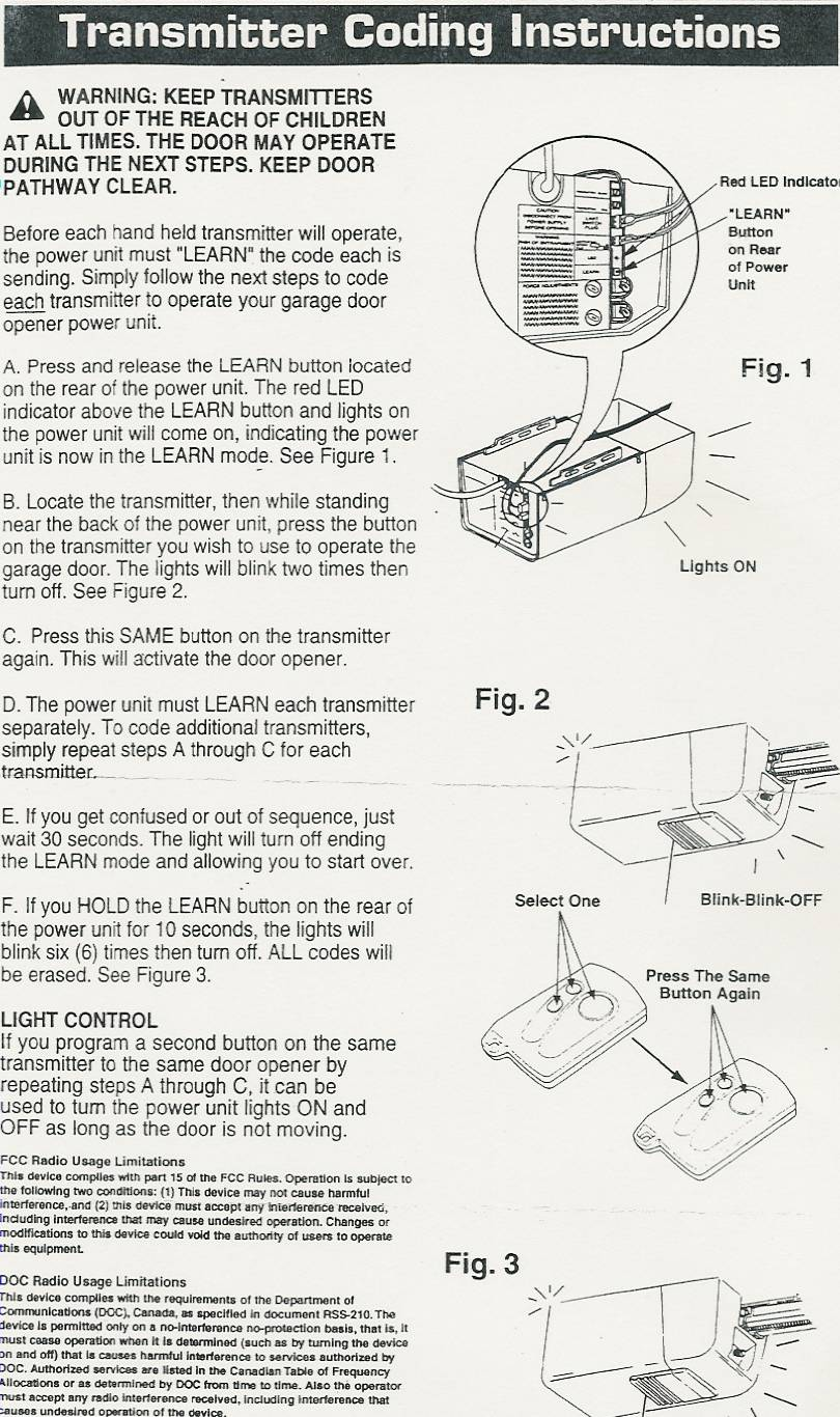Popular Mechanics Compatible Garage Door Opener Parts